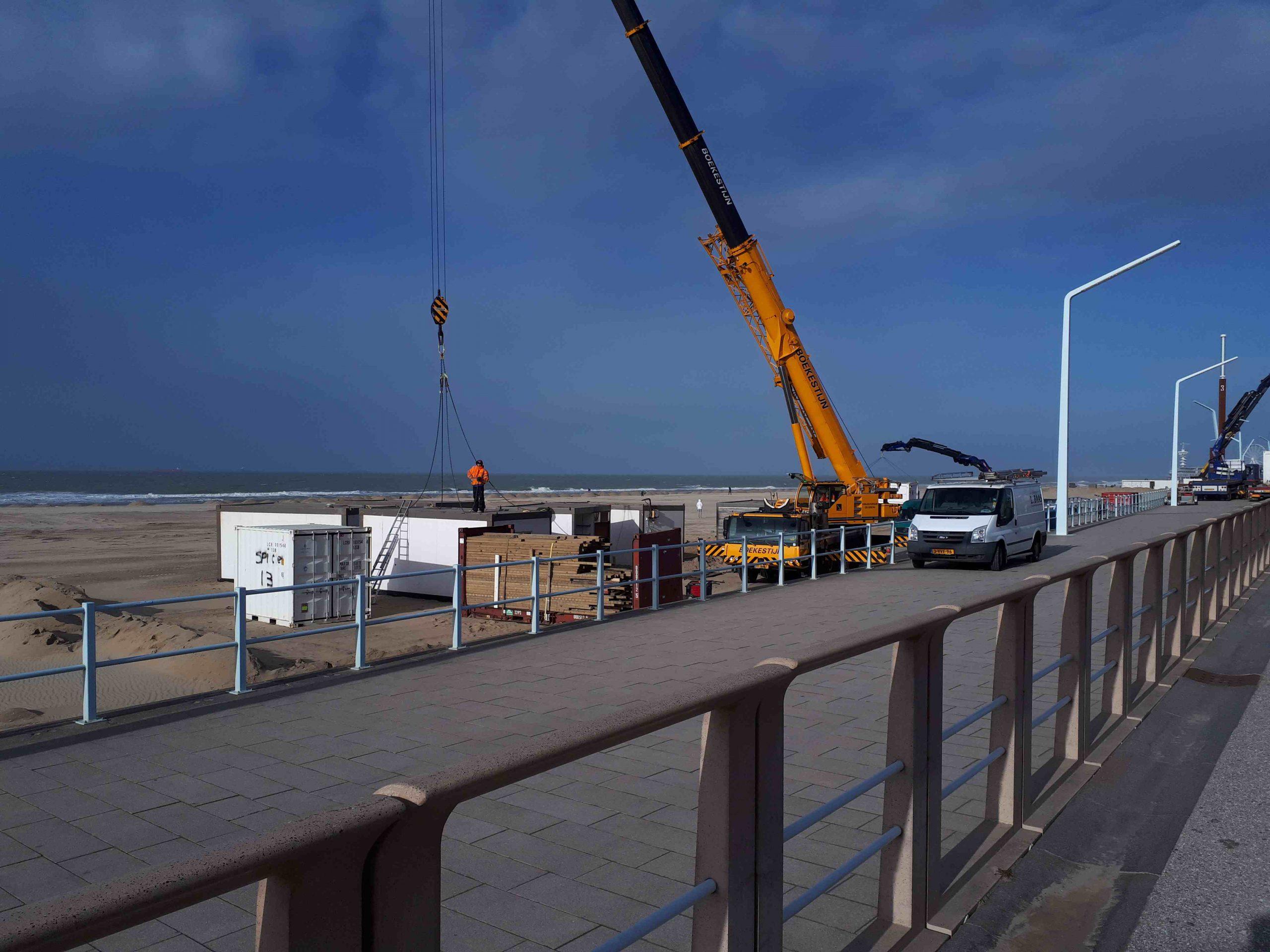 bouw strandtenten 2020